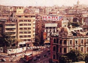 a banner announces a Hare Krsna festival