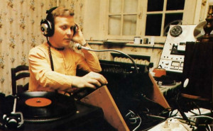 At the studio of the new Hare Krsna radio show in Paris, lndriya-damana dasa directs operations.