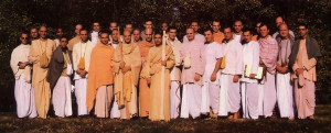 Presidents of the North American Hare Krsna centers at their recent two-day conference in Washington, D.C.