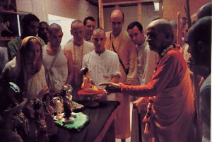 Srila Prabhupada engaged his disciples in numerous practical projects, such as constructing the FATE diorama museum in Los Angeles. Here he explains how one of the figures should be molded.