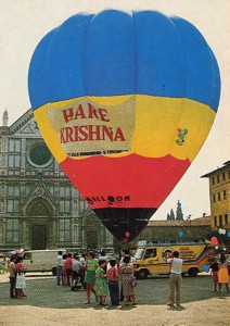 In Florence, the Hare Krishna balloon took celebrants aloft for a bird's-eye view of the city.
