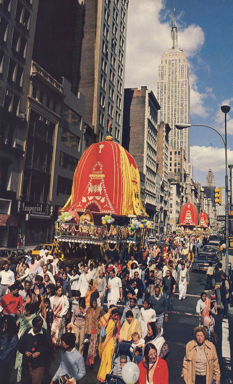 ISKCON gurus spark New York's festival