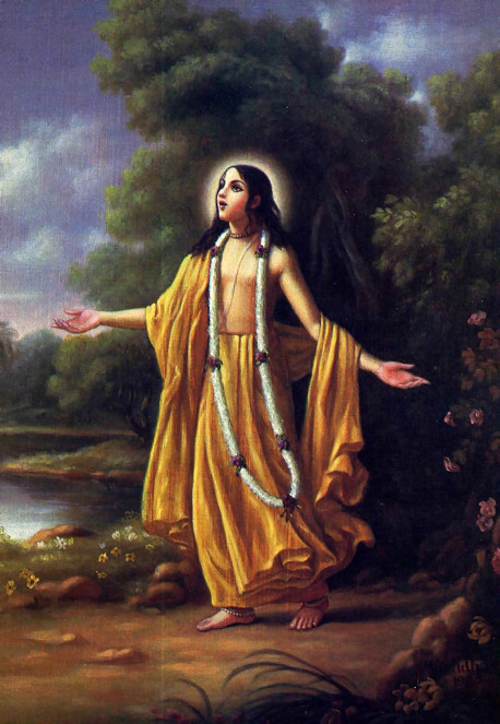 Lord Caitanya appeared five hundred years ago in what is now West Bengal, India, to revive and rejuvenate the ancient tradition of bhakti, pure devotion to God. Lord Caitanya stressed the chanting of the Hare Krsna mantra as the only means in this age for understanding the most intimate personal feature of the Supreme Lord .