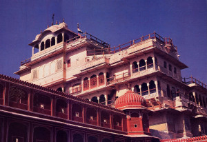 Jai Singh, from his royal quarters in the City Palace of Jaipur, could see his beloved Deity