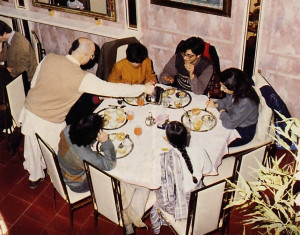The entire family can enjoy a multicourse dinner of krsna-prasadam at the sparkling new Govinda restaurant in Milan, Italy.