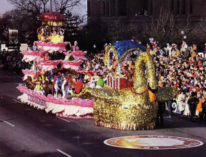 Representing the most festive religious movement in the world, the ISKCON float won the Judges' Award for Special Merit at the 1984 Cotton Bowl Parade.
