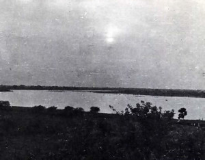 Yamuna River flowing past Vrindaban.