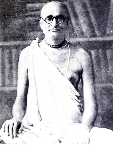 SRILA BHAKTISIDDHANTA SARASWATI GOSWAMI MAHARAJ. THE SPIRITUAL MASTER OF SRILA A.C. BHAKTIVEDANTA SWAMI AND FOREMOST SCHOLAR AND DEVOTEE IN THE RECENT AGE.