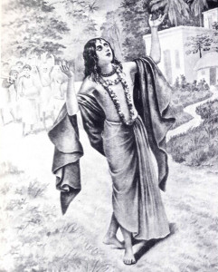 LORD SRI CHAITANYA MAHAPRABHU CHANTING THE HOLY NAME OF KRISHNA