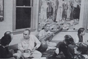 Discussion about Krsna at the Boston temple.