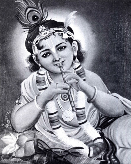 Lord Sri Krsna is the Absolute Truth, the Supreme Personality of Godhead. As confirmed by all the Vedic scriptures and by the great sages in the disciplic succession, He has a body made of eternity, bliss, and all knowledge. God has infinite forms and expansions; He expands Himself through His impersonal bodily effulgence, which is called the brahmajyoti, and through His multifarious energies, and He also expands into all the material universes. But of all His forms, His original transcendental form is as a cowherd boy in Vrndavana, Gopala-Krsna, a form which He reveals only to his most confidential devotees.