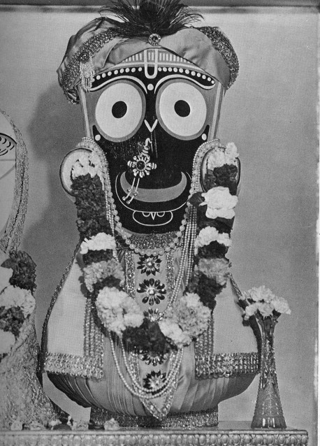 Lord Jaganatha, the Deity Incarnation of the Supreme Personality of Godhead Sri Krsna Jagannathah svami nayana-patha-gami bhavatu me. (O Lord of the universe, please be visible to me) Indeed, You alone know Yourself by Your own potencies, O origin of all, Lord of all beings, God of gods, O Supreme Person, Lord of the universe!
