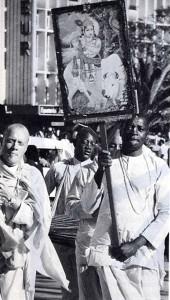 Chanting of Hare Krsna mantra in downtown Nairobi
