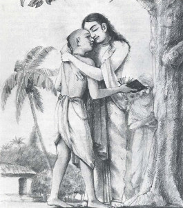THE REAL SCHOLAR OF BHAGAVAD-GITA in the ecstasy of devotion, Lord Caitanya embraced the pure-hearted brahmana who had appreciated Krsna's mercy.