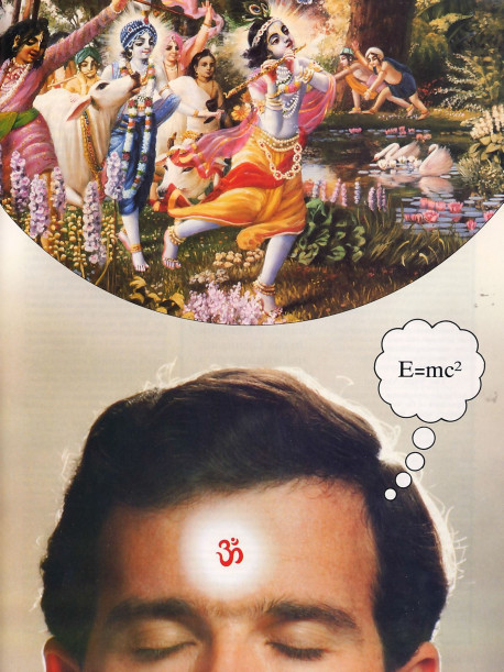 "The paradoxes of the subatomic world bring to mind the verses of the Vedas and other Eastern texts that speak of an ultimate reality beyond temporary matter-popularly known as ""the white light."" But the Vedic literature further reveals that beyond this conception lies the absolute reality of Krsna's transcendental abode."