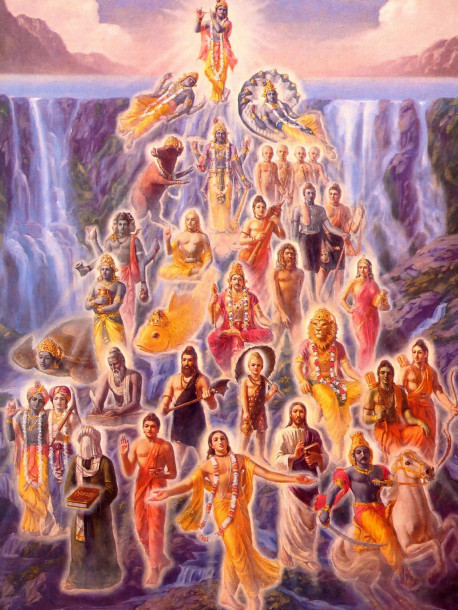 """The incarnations of the Lord are innumerable, like rivulets flowing from inexhaustible sources of water."""
