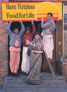 Moving into the new Philadelphia Hare Krsna Food for Life building are (left to right ) Bhakta Revanna, Visnor-aradhanam dasa, Candrika devi dasi, and Rupa - manohara dasa.