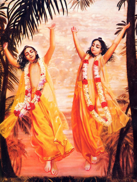 """Lord Caitanya and Lord Nityananda are like the sun and the moon. They have arisen simultaneously on the horizon of Gauda to dissipate the darkness of ignorance and thus wonderfully bestow benediction upon all."""