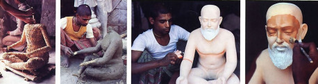 From the simplest materials - straw, string, wood, clay , and paints-a devotee fashions a lifelike form of Advaita Aciirya, an incarnation of God who appeared in Bengal five hundred years ago