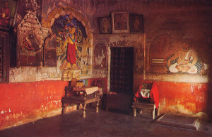 In this room of Sarvabhauma Bhattacarya's house in Puri, West Bengal, Sarvabhauma received and became acquainted with Sri Caitanya Mahaprabhu, who later converted him and all the inhabitants of Puri into devotees of Lord Krsna, the Supreme Personality of Godhead.