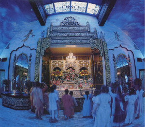 At Vancouver's temple, children eagerly chant and dance and perform services for the Deities