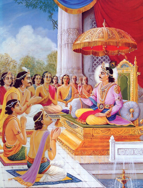 Long ago, the Supreme Personality of Godhead descended as Maharaja Rasbhadeva, who ruled the earth as an ideal emperor. Once, in the presence of many enlightened brahmanas in the place known as Brahmavarta, He instructed His one hundred sons in the most essential knowledge for human beings.