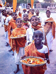 Their lives are enriched with spiritual understanding and activities like the weekly ceremonial procession and daily study. In the future, a transcendental international city will be built in Mayapur, and these students will fully use their talents and energy in creating, maintaining, and developing it.