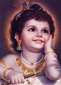 To please His devotees, Krsna, the Supreme Personality of Godhead, appears in this world as the most beautiful and enchanting child.