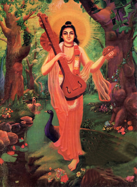 Narada Muni, son and disciple of Lord Brahma, who first brought the Hare Krsna mantra to this planet earth.