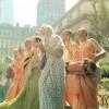 Hare Krishna Devotees chanting on Fifth Avenue New York City