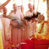 Offering Guru Puja to Srila Prabhupada
