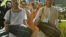 Chanting the Hare Krishna Mantra