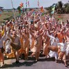 ISKCON Members chant Hare Krishna in Mayapur.