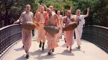 Devotees chanting Hare Krishna in New York's Central Park
