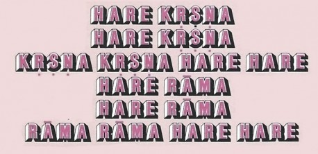 Hare Krishna Mantra in Pink and Black