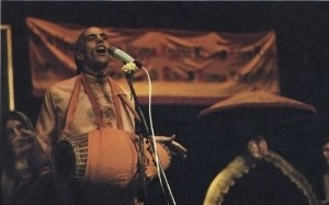 Revatinanda Swami Leading a Hare Krishna Kirtan at a preaching program