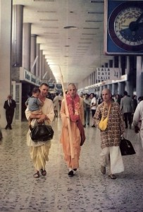 His Holiness Satsvarupa dasa Gosvami arrives in Mexico for preaching tour, 1973