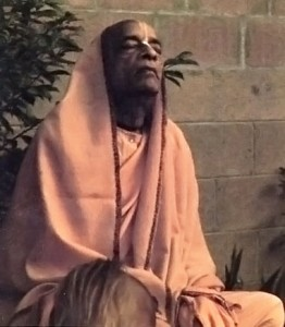 Srila Prabhupada Chanting Hare Krishna in his garden at New Dwarka, Los Angeles Hare Krishna Temple