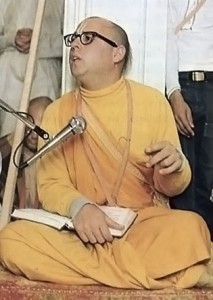 Hrdayananda dasa Gosvami, a devotee in the renounced order, is now on a speaking tour of colleges and universities in the midwestern United States. 1973.