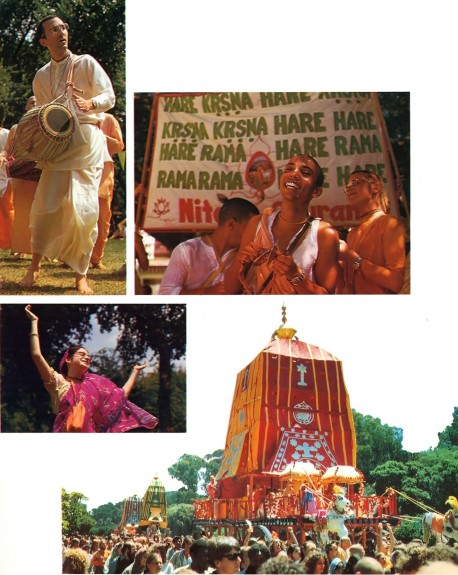 ISKCON Devotees Hare Krishna Festivals world-wide. 1974.