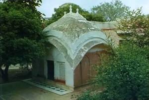 Srila Rupa Gosvami's Bhakana Kuti at Radha-Damodara temple, Vrindavan, India, 1974.