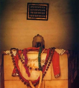 Srila Rupa Gosvami's Samadhi at Radha Damodara Temple, Vrindavan, India, 1974.