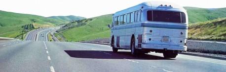 Radha Damodara Traveling Sankirtan Party Bus ISKCON USA 1974.