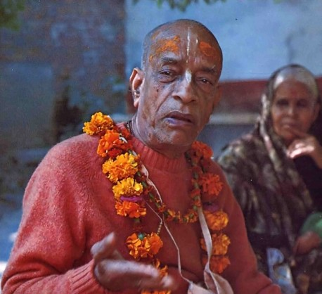 Srila Prabhupada in Vrndavana. Preaching in Lord Krishna's holy city.
