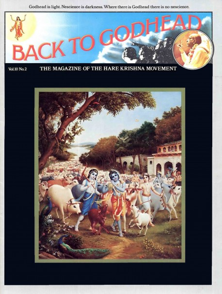 Back to Godhead - Volume 10, Number 02 - 1975 Cover