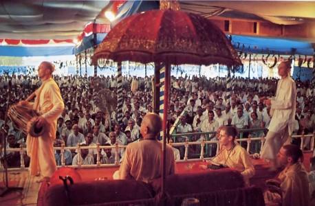 ISKCON Bombay Pandal Preaching Program 1975.