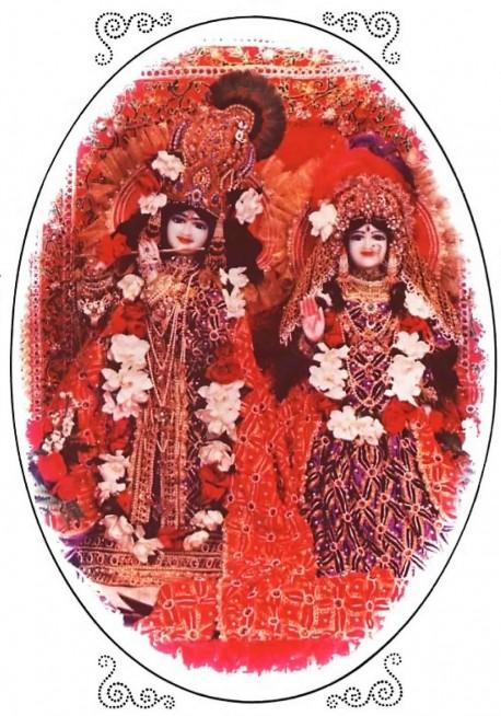 Radha Krishna Deities in ISKCON Temple