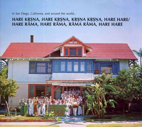 ISKCON San Deigo CA Temple and Devotees. 1975.