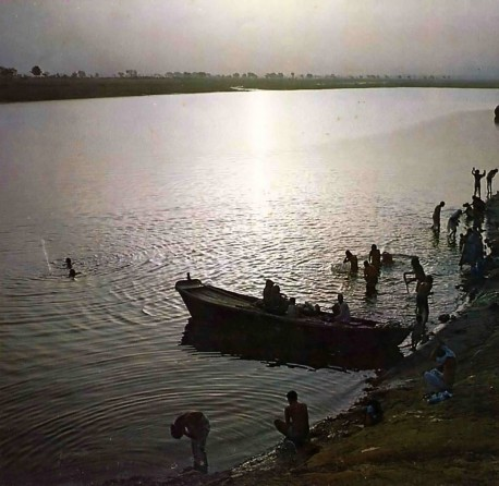 The River Yamuna, Vrindavan 1975.