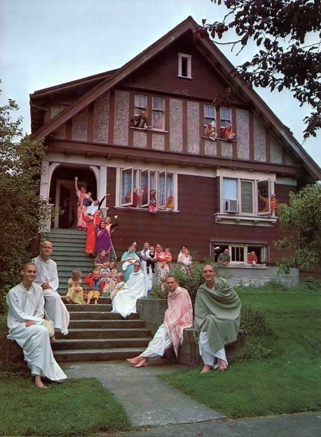 ISKCON Temple and Devotees Vancouver, BC, Canada. 1975.